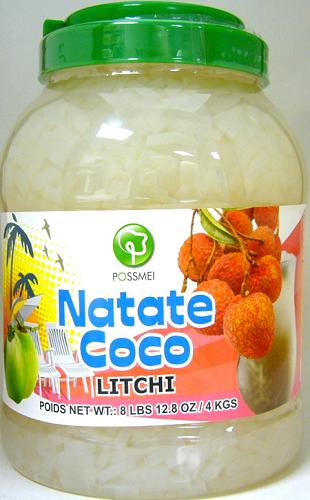Possmei Bubble Tea Jelly Topping - Litchi (Nata De Coco)