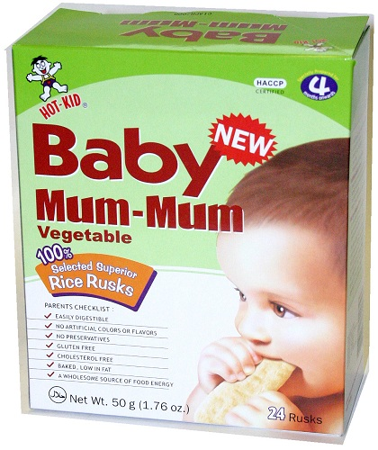 Hot Kid Baby Mum-Mum Rice Rusks 24ct - Vegtable