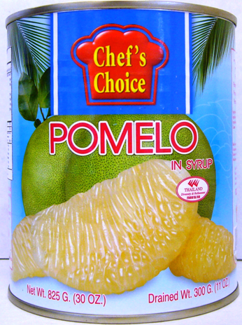 Chef's Choice Tropical Fruits 30oz - White Pomelo in Syrup