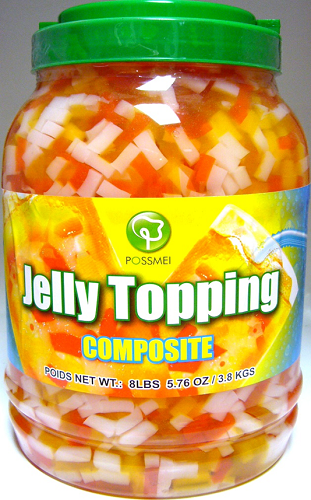 Possmei Bubble Tea Jelly Topping - Composite (Rainbow Jelly)
